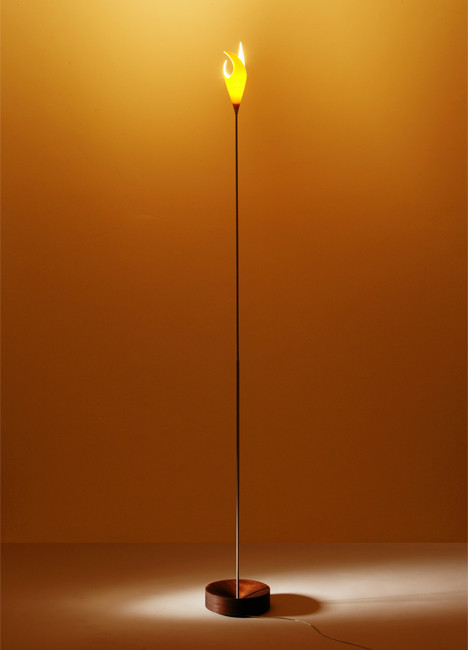K-meral TRIS Floor Lamp base mahogany