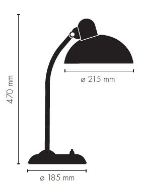 Kaiser Idell 6556-T Table lamp graphic