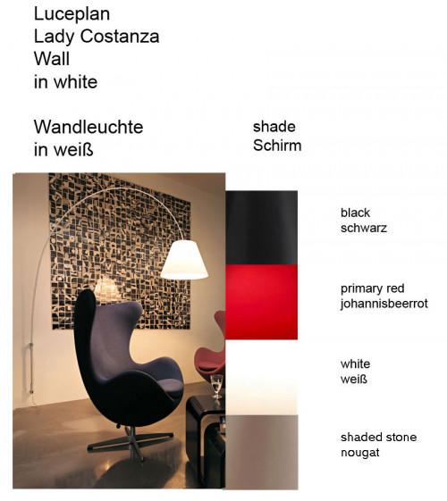 Luceplan Lady Costanza Wall Dimmer colours