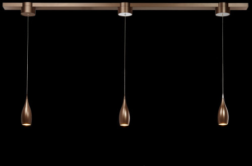 LDM Drop Move Trio Surface-mounted bronze with 1x topping in aluminum matt (only on request)