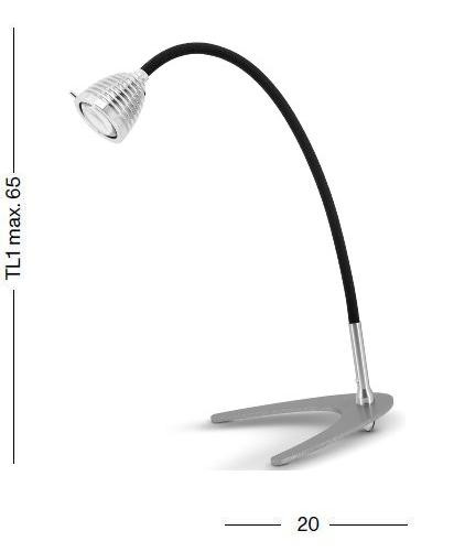 Less'n'more Athene Table Light small A-TL1 graphic