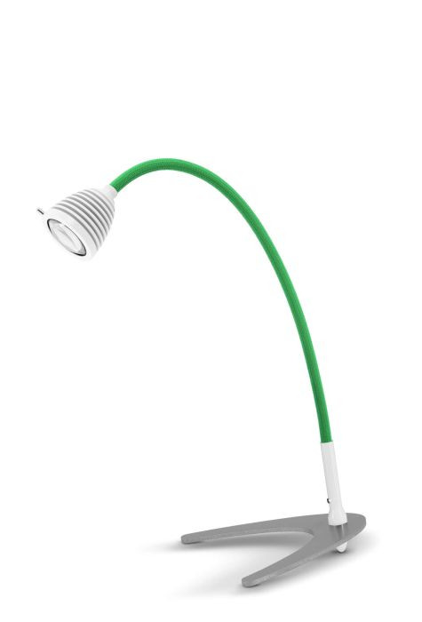 Less'n'more Athene Table Light small A-TL1 white, flex arm textile green