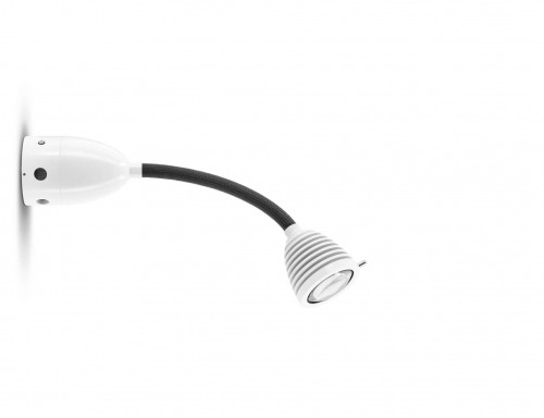 Less'n'more Athene Wall / Ceiling Light A-BDL1 white, flex arm textile anthracite