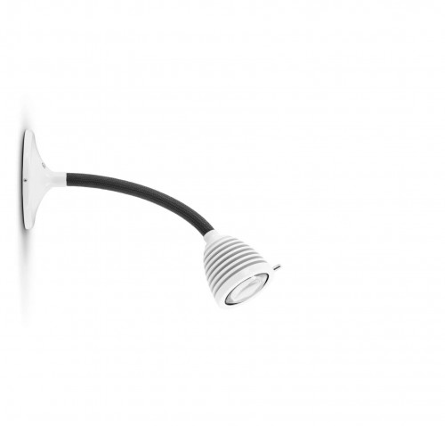 Less'n'more Athene Wall / Ceiling Light A-MDL1 white, flex arm textile anthracite