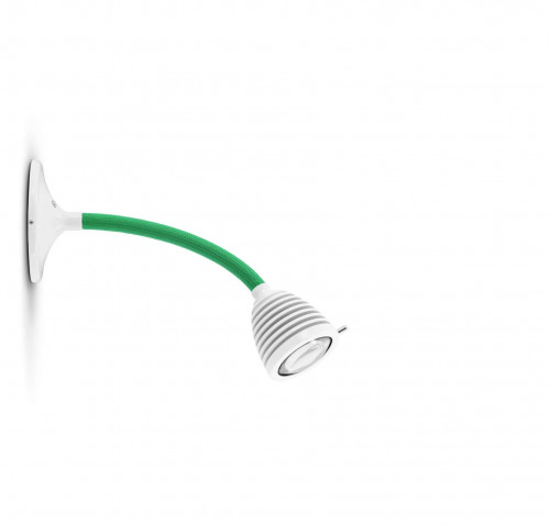 Less'n'more Athene Wall / Ceiling Light A-MDL1 white, flex arm textile green