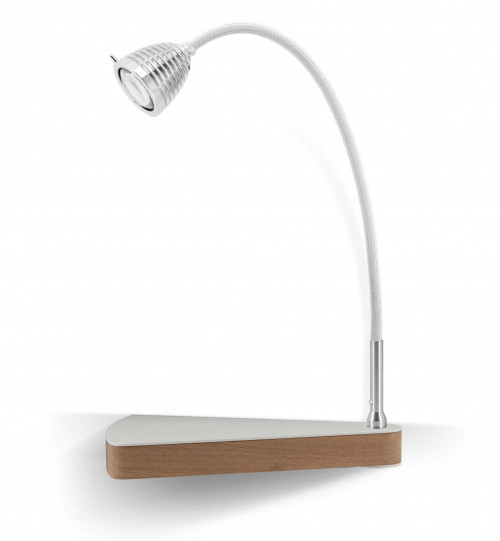 Less'n'more Dr Wattson Athene Bedside Table DR-A aluminum, flexible arm textile white, right