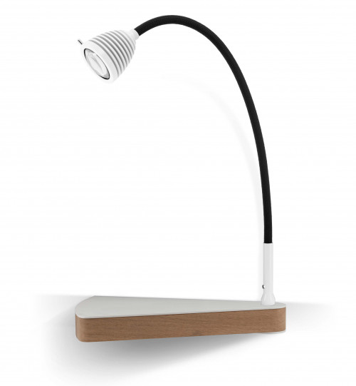 Less'n'more Dr Wattson Athene Bedside Table DR-A white, flexible arm textile black, right