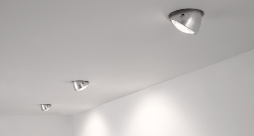 Less'n'more Mimix Concrete Downlight with mounting plate for sunk cavity wall installation