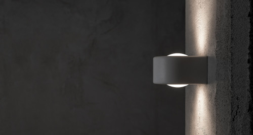 Less'n'more Mimix Concrete Wall Spotlight two-lamp grey