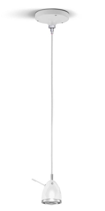 Less'n'more Ylux Pendant Light head glossy white, canopy white, cable white