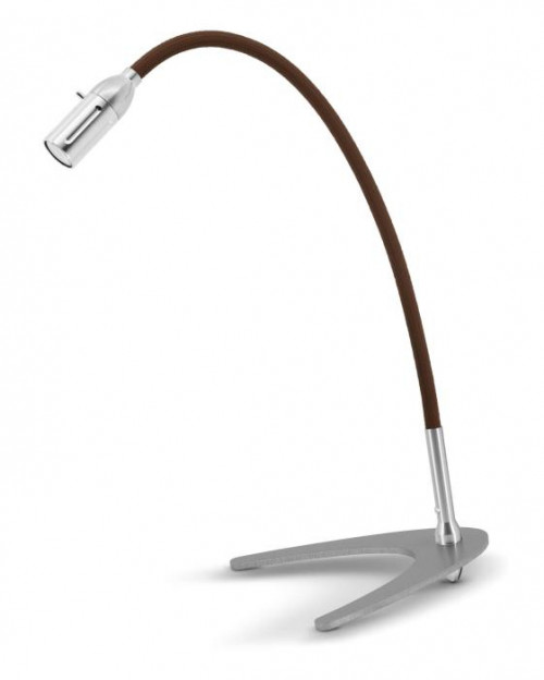 Less'n'more Zeus Table Light Z-TL aluminum, flex arm textile brown