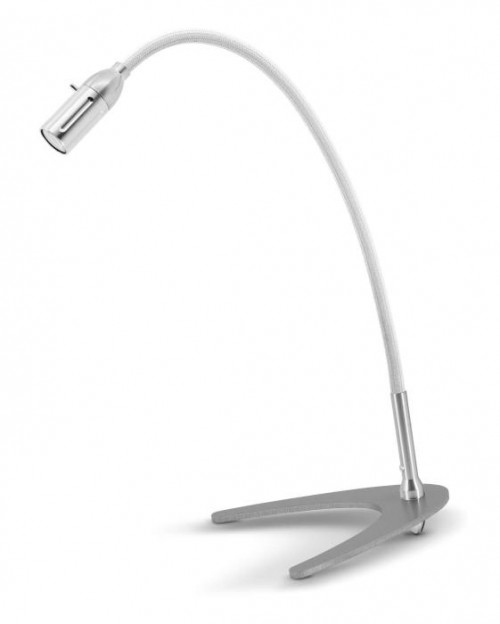 Less'n'more Zeus Table Light Z-TL aluminum, flex arm textile white