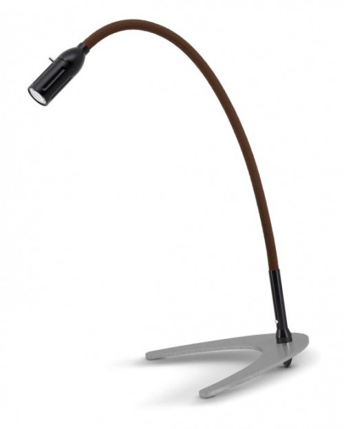 Less'n'more Zeus Table Light Z-TL black, flex arm textile brown