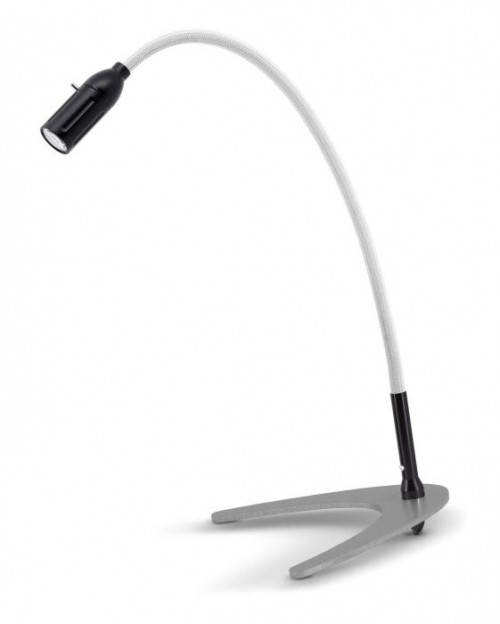 Less'n'more Zeus Table Light Z-TL black, flex arm textile white