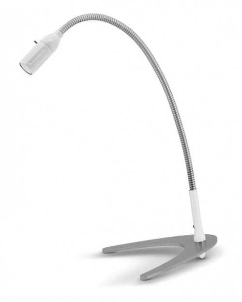 Less'n'more Zeus Table Light Z-TL white, flex arm aluminum
