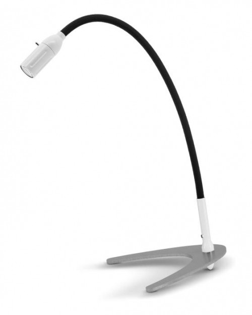 Less'n'more Zeus Table Light Z-TL white, flex arm textile black
