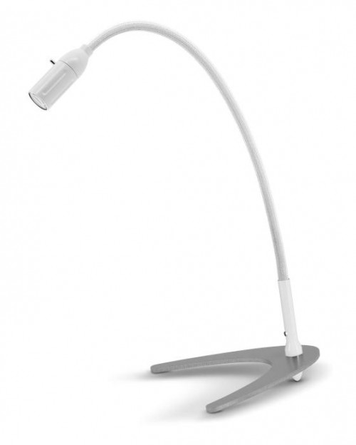 Less'n'more Zeus Table Light Z-TL white, flex arm textile white