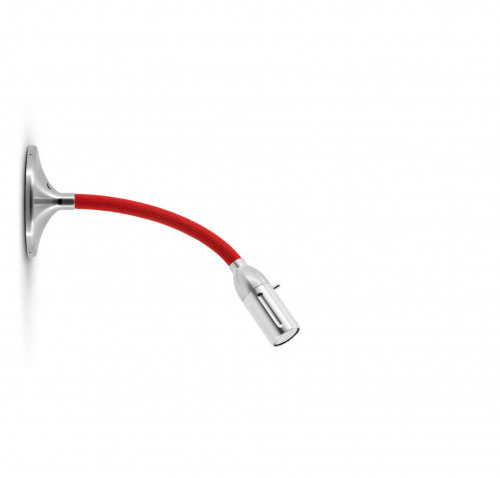 Less'n'more Zeus Wall / Ceiling Light Z-MDL1 aluminum, flex arm texile red