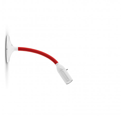 Less'n'more Zeus Wall / Ceiling Light Z-MDL1 white, flex arm textile red