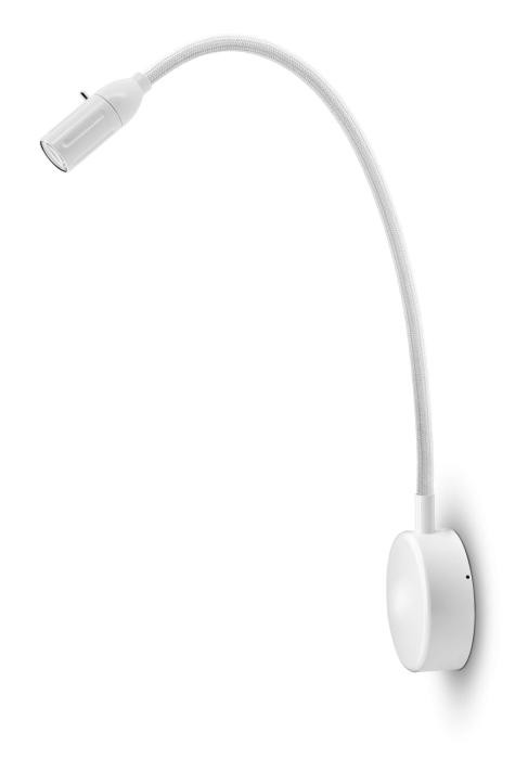 Less'n'more Zeus Wall Light Z-BWL2 white, flex arm textile white
