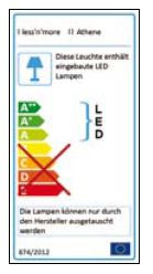 Less'n'more Athene Recessed Light A-AL2 EU Energy Label