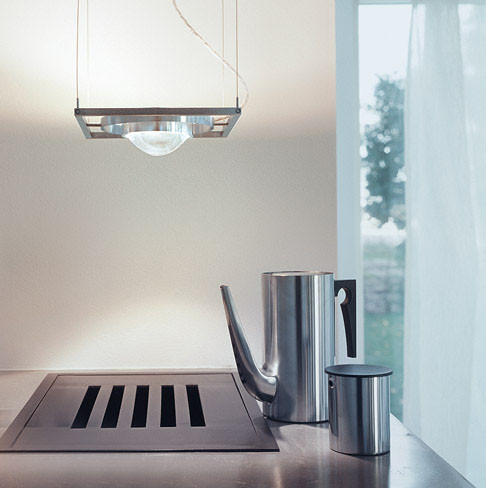 Licht im Raum Ocular 1 LED brushed stainless steel