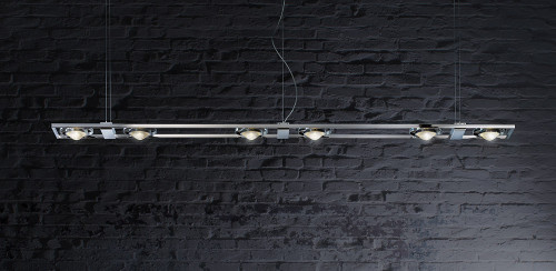 Licht im Raum Ocular 6 LED Serie 100 brushed stainless steel