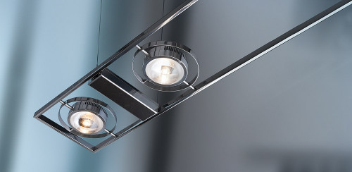 Licht im Raum Ocular 6 LED Serie 100 hand-polished stainless steel