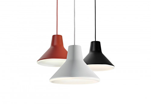 Luceplan Archetype red, white and black