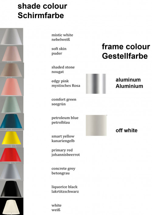 Luceplan Costanza Table Fixed colours