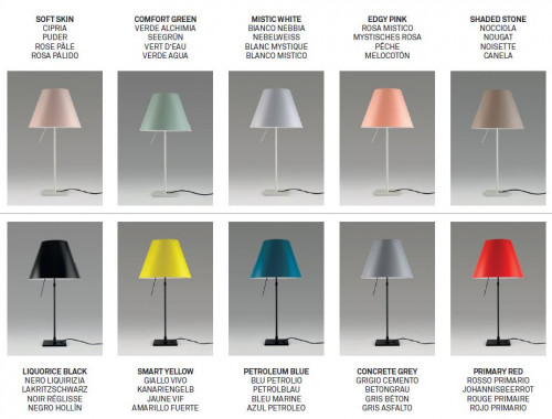 Luceplan Costanza Table shade colours