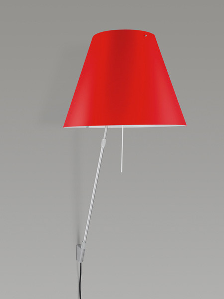 Luceplan Costanza Wall Telescopic primary red