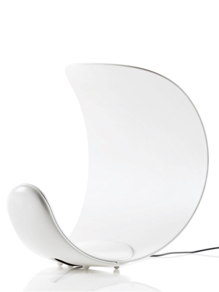 Luceplan Curl with white reflector