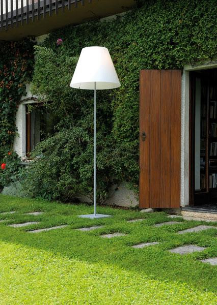 Luceplan Grande Costanza Open Air shade white, frame and base alu (shade only as accessories)