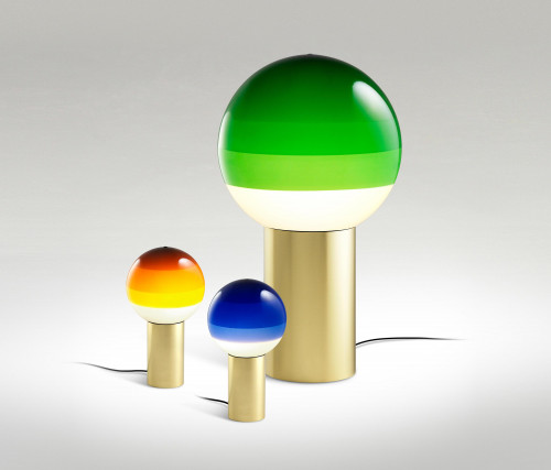 Marset Dipping Light M green (at the right)
