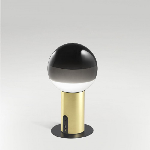 Marset Dipping Light Portable black, base brass with accessories Disc with Magnet