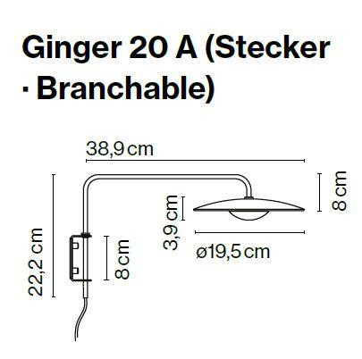 Marset Ginger 20 A with plug lead graphic
