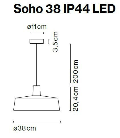 Marset Soho 38 IP44 LED graphic