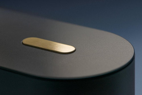 Mawa Polly black with push button dimmer brass