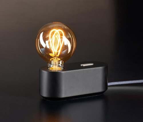 Mawa Polly black with push button dimmer silver (only on request)