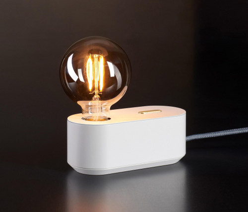 Mawa Polly white with push button dimmer brass (only on request)