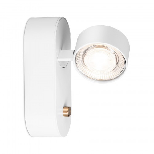 Mawa Wittenberg 4.0 wall lamp LED dim to warm version 1, white with head white