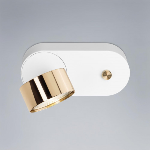Mawa Wittenberg 4.0 wall lamp LED dim to warm version 3, white with head brass