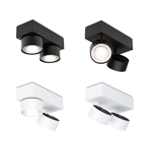 Mawa Wittenberg 4.0 ceiling lamp 2-lights LED black and white