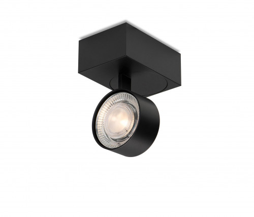 Mawa Wittenberg 4.0 ceiling lamp asymmetric LED version 2, black with head black