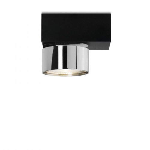 Mawa Wittenberg 4.0 ceiling lamp asymmetric LED version 3, black with head chrome