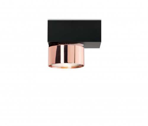 Mawa Wittenberg 4.0 ceiling lamp asymmetric LED version 4, black with head copper