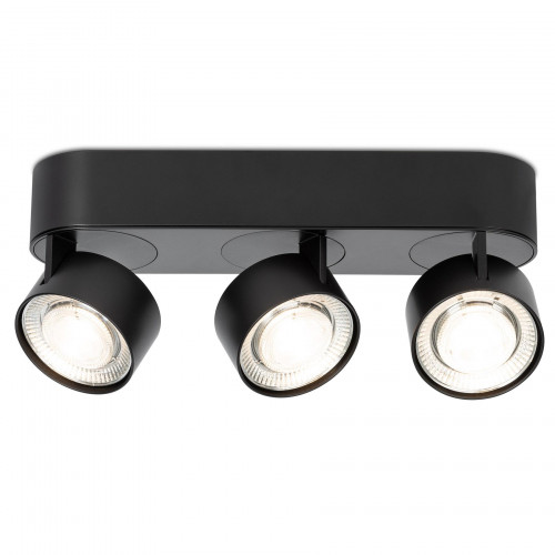 Mawa Wittenberg 4.0 ceiling lamp oval 3-lights LED black