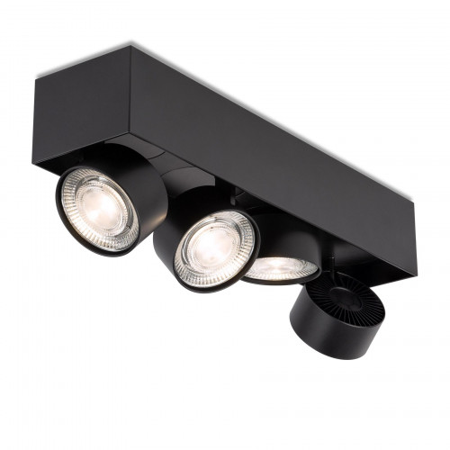 Mawa Wittenberg 4.0 ceiling lamp semi-flush 4-lights LED black