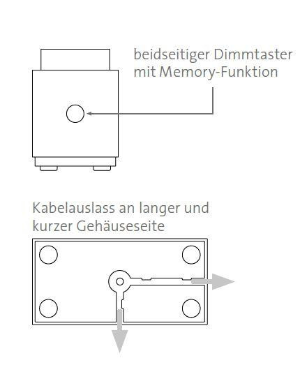 Mawa Wittenberg 4.0 Parquet floor lamp LED push button dimmer and cable outlet